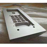 China High grade silver anodized aluminum extrusion CNC machined access control panel on sale