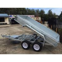 Buy cheap 2000kg 10 X 5 Tandem Trailer / Galvanised Tipper Trailer With Checker Plate Rolled Body from wholesalers