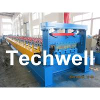 Quality 0.8 - 1.5mm Steel Metal Floor Decking Sheet Roll Forming Machine For Roof Floor Deck wholesale