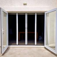 Quality Large size No mosquito DIY Retractable mosquito plisse fly screen door wholesale