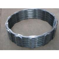Quality Hot Dip Galvanized Barbed Wire CBT60 , Single Coil Razor Mesh Fence wholesale