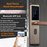 Quality Mobile Bluetooth Remote Intelligent Door Lock Rental House Use With Dynamic Password wholesale
