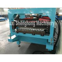 Quality Double Press Glazed Tile Roll Forming Machine With Transmission Chain wholesale