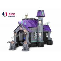 Quality Eco Friendly 10ft Halloween Inflatable Haunted House With Led Lights For Decoration wholesale