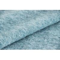 Plush Soft Textile Solid Blue Fabric , Fashion Wool Mohair Upholstery Fabric