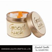 Quality Really Good Smelling Scented Tin Candles With Round And Top Printing Sticker wholesale