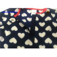 Quality Heart Print Baby Fleece Pram Suit And Hat Sets For Girls OEM / ODM Available wholesale