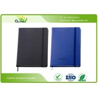 Quality Delicate PU Leather Cover Custom Embossed Notebook with Pens Elastic Band wholesale