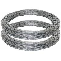Quality High Protection Razor Barbed Tape Wire , Blade Concertina Razor Wire In Silver wholesale