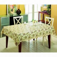 China Vinyl Table Cloth with Flannel, Flannel Back Table Cloth, Waterproof Vinyl Table Cloth on sale