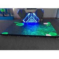 Buy cheap P4.81 disco LED dance floor display rental , led stage floor anti-collision from wholesalers