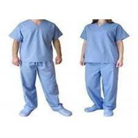 China Nonwen Aseptic Scrub Suits , Chemical Resistant Disposable Protective Coveralls on sale
