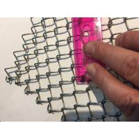 Quality Light Weight Conventional Wire Mesh Conveyor Belt / Chain Link Fencing wholesale