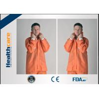 Quality Orange PP/SMS Disposable Protective Coveralls With Elastic Cuff Wrists And Ankles wholesale