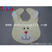 Quality 13Wholesale Baby Items Plush Embroidery Beige Rabbit Baby Bibs wholesale