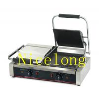Quality Double head non stick electric panini grill with CE EGD-20 wholesale