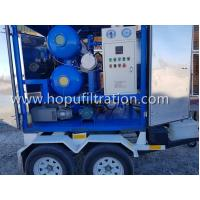 China Mobile Trailer Vacuum Transformer Oil Purification Plant, Insulation Oil Processing System, wheel oil purifier on sale