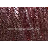 Quality Colorful 3mm Sequin Aluminum Garment Silver Metallic Mesh Fabric For Bag wholesale