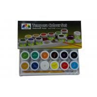 Quality Metallic primary acrylic paint colors , Tempera Colour set Paint Color Pigments wholesale
