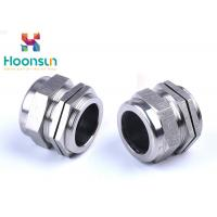 Quality NPT1 / 4 Dustproof Stainless Steel Cable Gland Waterproof Electroplate Surface Treatment wholesale
