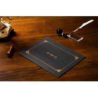 Quality Professional Hardcover Certificate Holders , Classic Black Custom Certificate Jackets wholesale