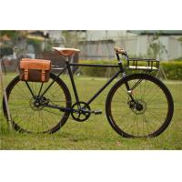 Quality Canti-lever brake colorful hi-ten steel  big 28 size retro city bike with basket made in China wholesale