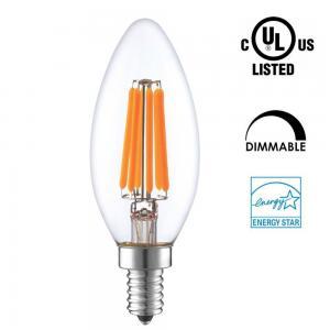 Quality Candle Shaped LED Energy Saving Light Bulbs , C35 LED Candelabra Bulbs E12 E14 Socket wholesale