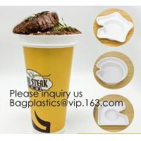 Quality Flower Shaped 330ml PP Plastic Snack Plate With Cup Holder,Disposable PS Plastic Cup Top Snack Tray,Snack Cup With Straw wholesale