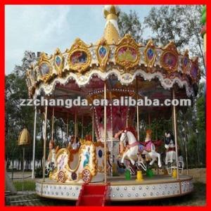 Quality Hottest sale funfair rides amusement park carousel wholesale