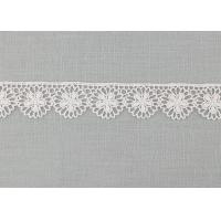 Quality Floral Venice Lace Trims , Vintage White Embroidered Lace Trim For Bridal Dresses wholesale