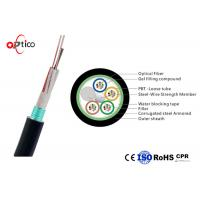 Quality Rodent Resistance Fiber Optic Cable 48 Core Steel Tape Armored Single Mode Fiber G652D wholesale
