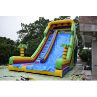 China Simple Large Inflatable Dry Slide / Bright Colour Palm Tree Slides on sale