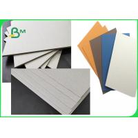 China FSC & SGS Approved Colorful Laminated Grey Board Grade AAA / AA With 1MM 1.28MM 2MM 3.2MM on sale