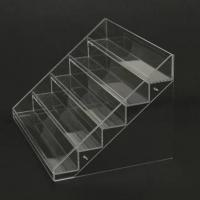 Cheap acrylic cosmetic display stands/transparent acrylic nail polish displays rack for sale