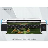 China Large Format Digital Solvent Printer , Challenger 3208Q Digital Printing Machine For Fabric on sale