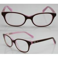 Quality Pink Acetate Optical Eyeglass Frames by Handmade , CE and FDA Standard wholesale
