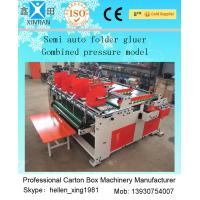 Quality Corrugated Paper Box Carton Folding Gluing Machine , Automatic Folder wholesale