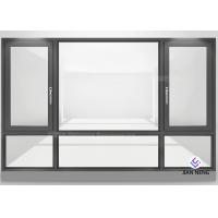 Quality Double Glazed Aluminum Frame Window Horizontal Opening Pattern Finished Surface wholesale