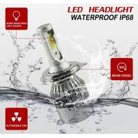 Quality Auto High Power LED Headlights For Cars 70w 7600lm Waterproof  IP68 wholesale