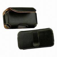 Cheap PDA Case, High-quality Black Flip Leather Case Pouch/Holster Cover, Horizontal for sale