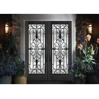 Quality Home Decration Tempered Wrought Iron Door Glass Silk Screening 22*64 Inch wholesale