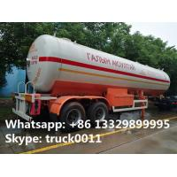 Quality hot sale FUWA 2 axles 40500L propane gas trailer, best price FUWA/BPW double axles 17tons road transproted lpg gas tank wholesale