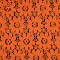 Quality Soft Fancy Burnt Orange Embroidered Lace Fabric For Saree Clothes wholesale