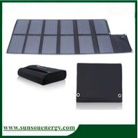 China High Eff. 120w foldable solar panel, portable solar panel charger kits for digital products, car battery etc on sale