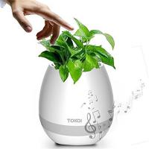 Cheap Flower Pot Music Bluetooth Speaker Smart Touch Plant Lamp Rechargeable Li Battery for sale