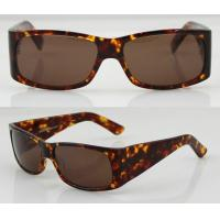 Quality Hand Made Brown Acetate Frame Sunglasses With Polarized Lens wholesale