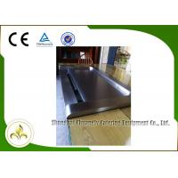 Quality Down Fume Exhaustion Front Air Supply  Sunken Air Inlet Rectangle Electric Teppanyaki Grill Table 7 Seats wholesale