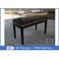 Quality Black Wooden Custom Glass Display Cases , Exhibition Display Counter wholesale