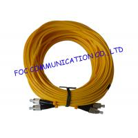 Quality FC / UPC G.655 Duplex Fiber Optic patch cord single mode High Stability wholesale