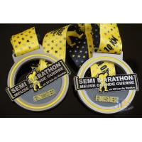 Buy cheap Semi Marathon 10KM Custom Sports Medals Soft Enamel Medallion With Ribbon from wholesalers
